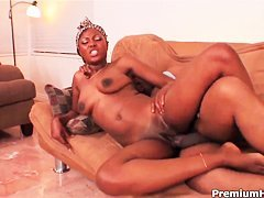 Curvy black whore Miss Simone gets nailed deep