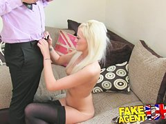 FakeAgentUK Agent finds silent sex with petite blonde