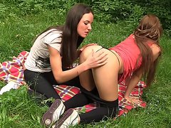 Albina & Hailey Ariana & Felony & Lindsey & Francheska & Angela in teenage porn with hot chicks shagging in nature